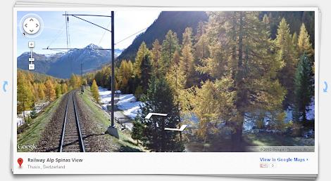 Street View - Viaje en Tren Alpes Suizos