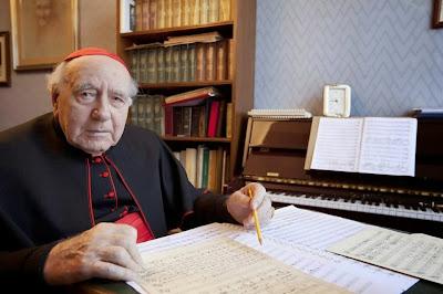 Faleceu hoje pela manhã, o Cardeal Domenico Bartolucci, grande compositor sacro e Maestro Perpétuo Emérito do Coro da Capela Sistina.