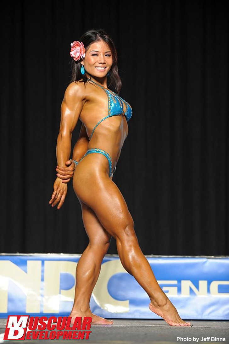 Michelle Jin Flexing Her Muscles At The 2011 Junior Nationals Championships
