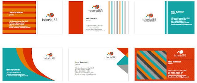 100+ contoh desain kartu nama keren