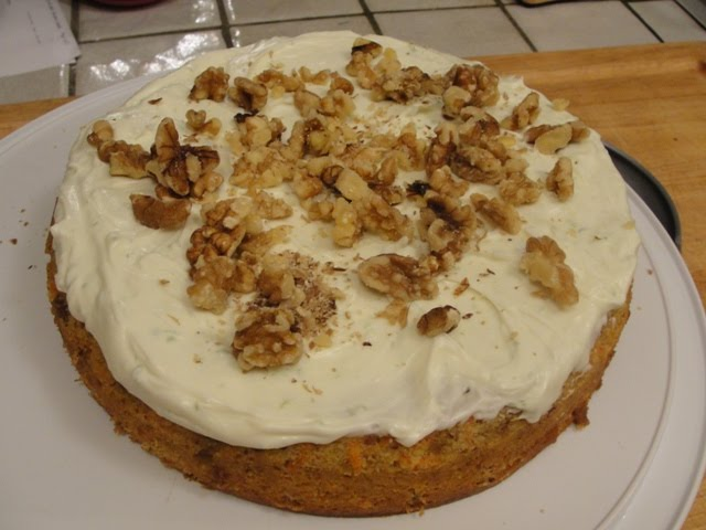 Rather Peasing Carrot Cake with Lime Mascarpone Icing