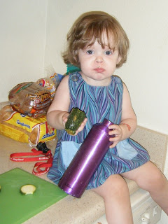 Chef Sasha tasting Zucchini