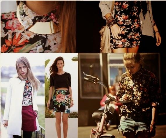 blusas, vestidos saias florais