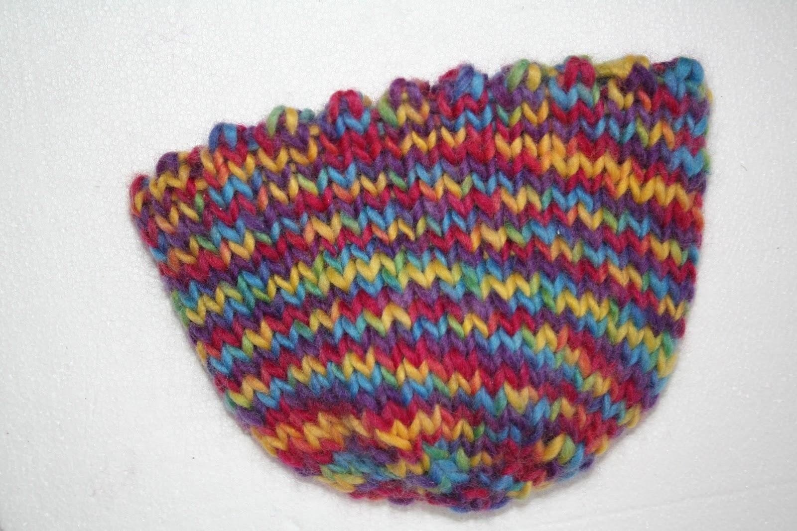 BikerChicKnits: BGITWWW\'s Hand Knit Bowl with Picot Edge