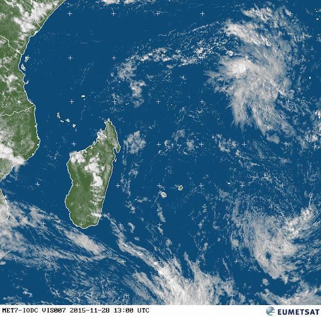 Image satellite zone dépressionaire