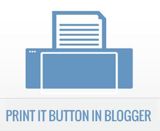 Tombol Print di Blogspot