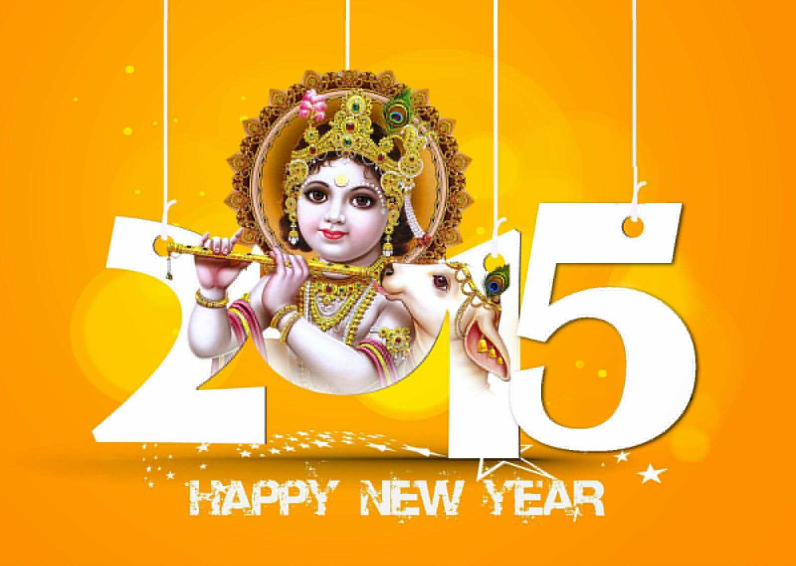 Happy New Year Lord Krishna Lord Krishna Happy New Year