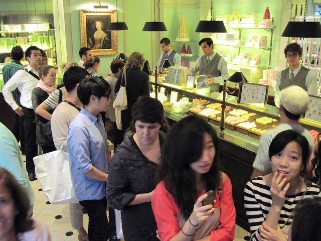 Treat seekers in New York find lines at Laduree
