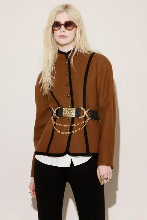 Adorable brown jacket with black trendy leggings