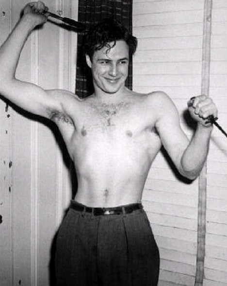 Beautiful Black & White Portraits of young Marlon Brando ... Tab Hunter Today