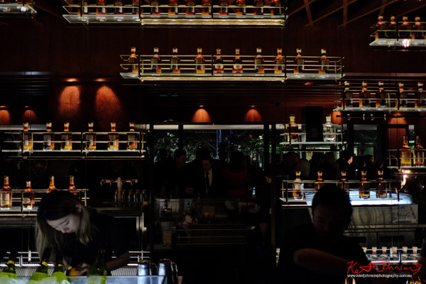 Behind the bar, Russell's Reserve 10 Year Bourbon at Grain Bar Sydney. Photo by Kent Johnson.