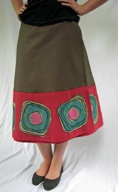 wrap skirt - carnival