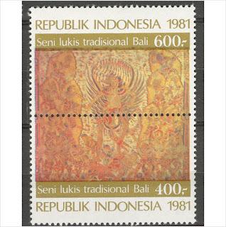 Perangko Lukisan Tradisional Bali 1981 Rp 1.000