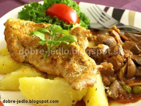 Dunajské morčacie prsia - recepty