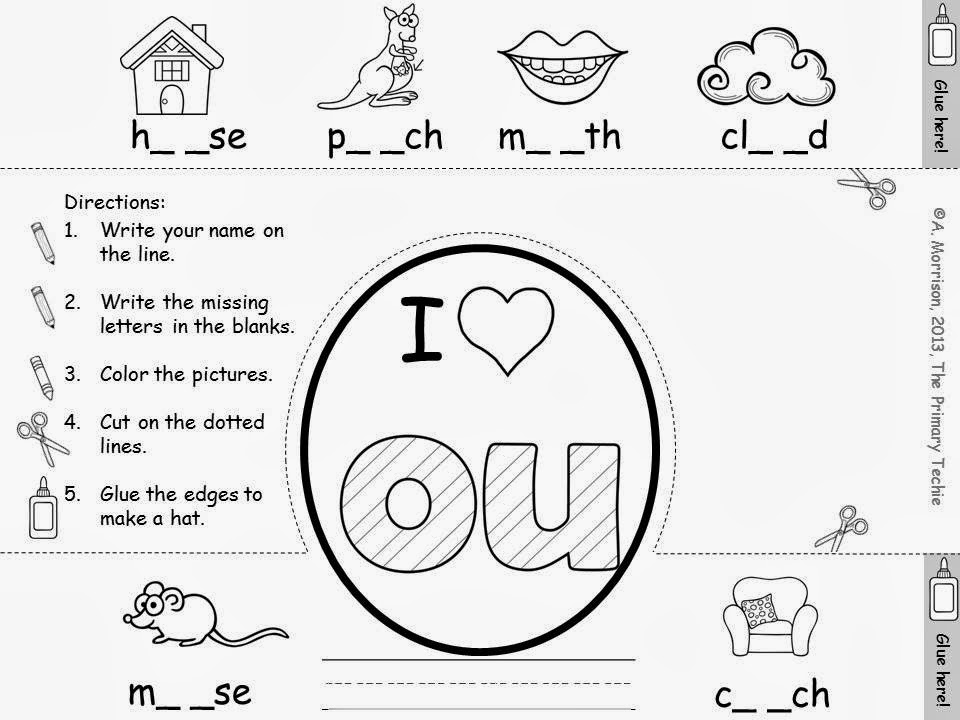 The Primary Techie: Fun with OU and OW, Ideas for learning new sounds