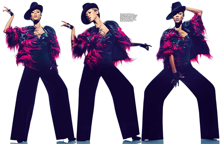 Tyra Banks for Harper's Bazaar Singapore January 2013, America's Next Top Model