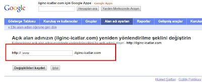 2013 Blogger Domain Yönlendirme
