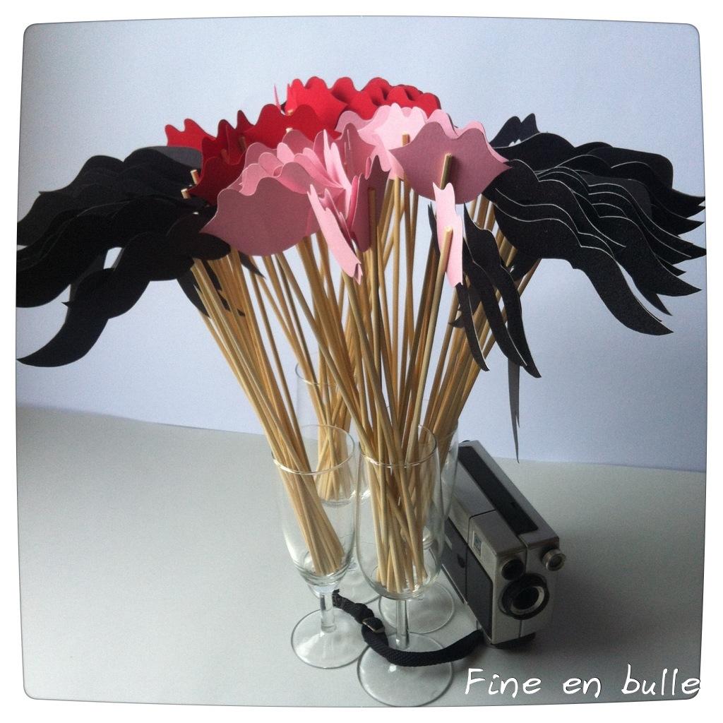 fine en bulle joli bouquet d 39 accessoires pour photo booth. Black Bedroom Furniture Sets. Home Design Ideas