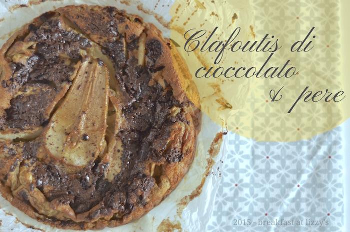Clafoutis di cioccolato e pere