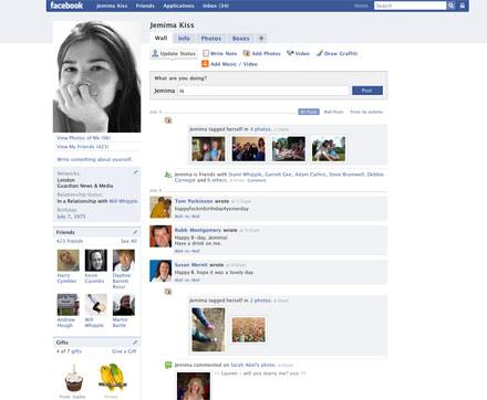 Perfil facebook evolución