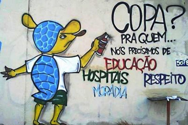Arte callejero contra el Mundial en Brasil