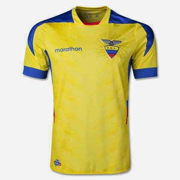 Kostum Timnas Ekuador Piala Dunia 2014