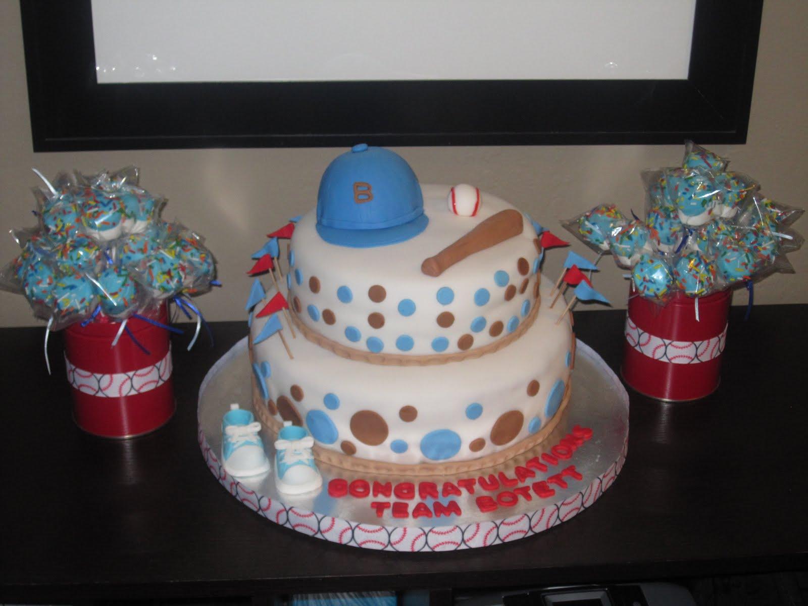 Baseball Theme Baby Shower Cake