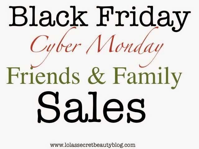 BLACK FRIDAY, CYBER MONDAY & FRIENDS & FAMILY SALES