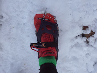 Hillsound Trail Crampon Ultra on Altra LonePeak shoe