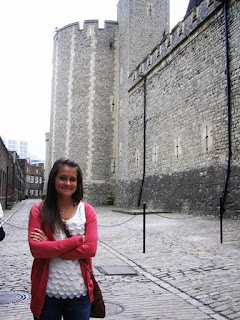 Katie at the Tower of London