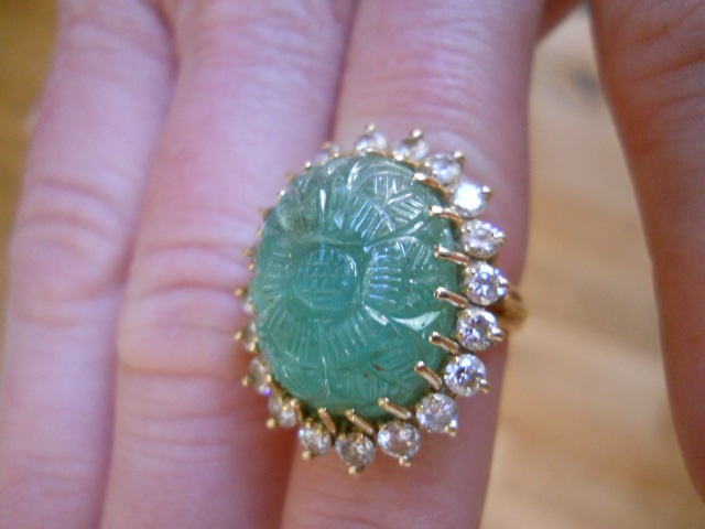 all estate sales and auction company 14k gold cabochon