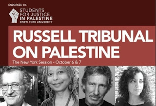 Poster for Russell Tribunal on Palestine