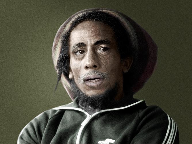 Bob Marley, retoque digital para envejecer su rostro