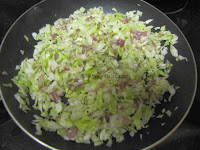 3 Cabbage and Green Peas Dry Curry