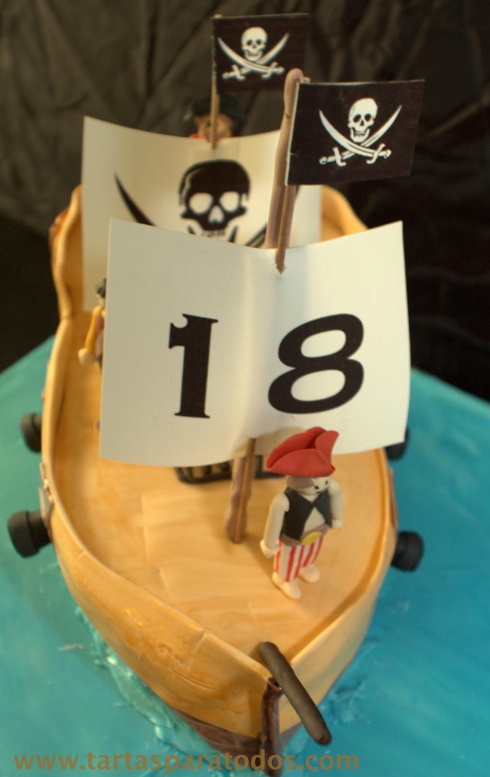 Tartas para todos tarta barco pirata playmobil for Barco pirata playmobil