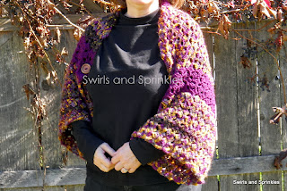 Swirls and Sprinkles: crochet convertible shawl pattern