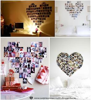 coração de fotos namorado