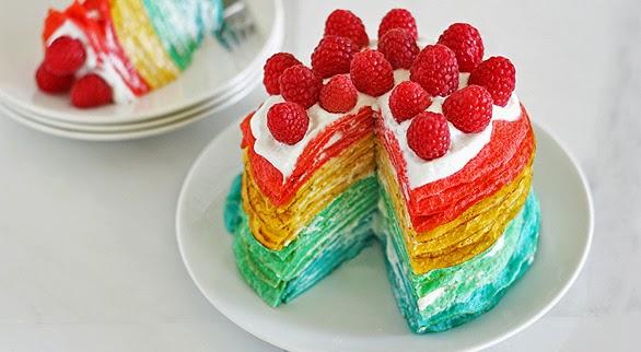 Resep dan Cara Membuat Rainbow Mille Crepe