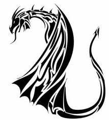 Motif Tato Naga Hitam Putih 9