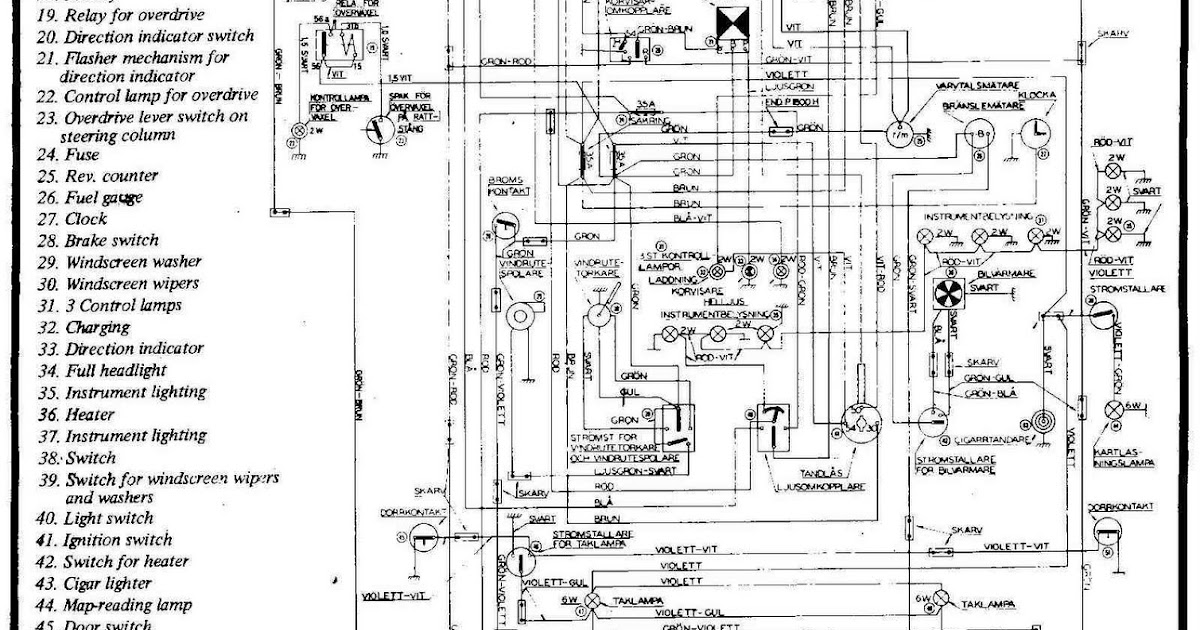 Volvo P1800 Complete Wiring Diagram