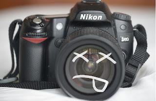 Spoilt camera lens
