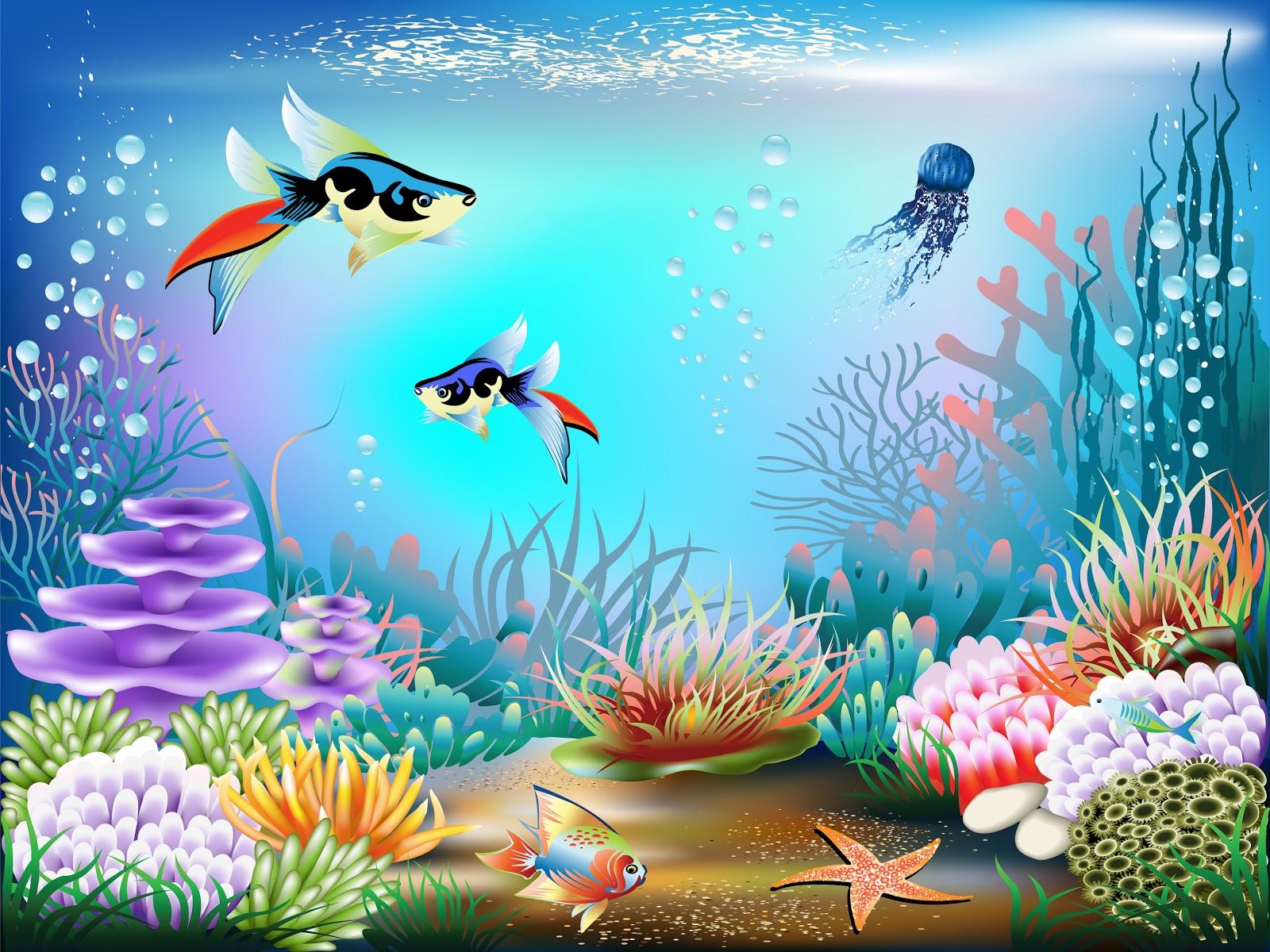 Camilla santos belas imagens do fundo do mar for Sfondo animato pesci