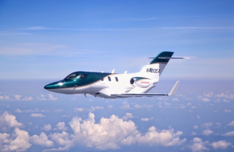 1st HondaJet flight