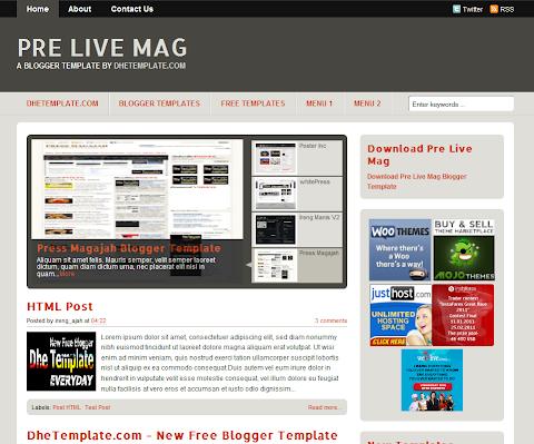 Pre Live Mag Blogger Theme