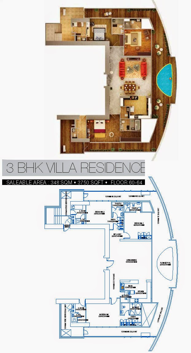 BRYS BUZZ :: Floor Plans   3 BHK Villas