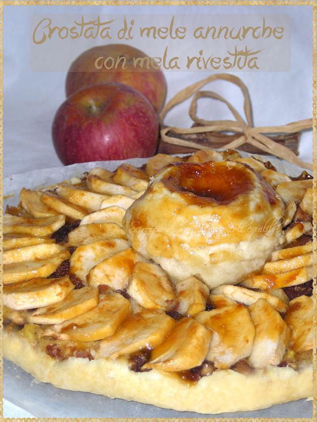 Crostata di mele annurche con mela rivestita