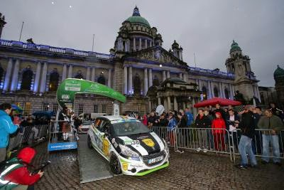 Florin Tincescu si Sergiu Itu - Peugeot 208 R2 - Circuit of Ireland Rally 2015 - Junior ERC