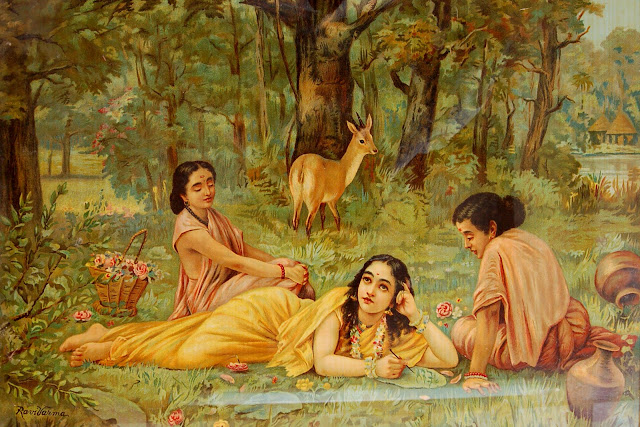 Raja Ravi Varma's Paintings: Group of Girls