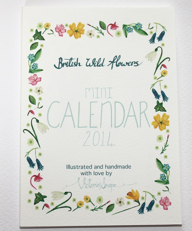 http://folksy.com/items/4769182-British-wild-flowers-mini-2014-calendar
