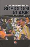 toko buku rahma: buku SOSIOLOGI KLASIK, pengarang wardi bachtiar, penerbit rosda